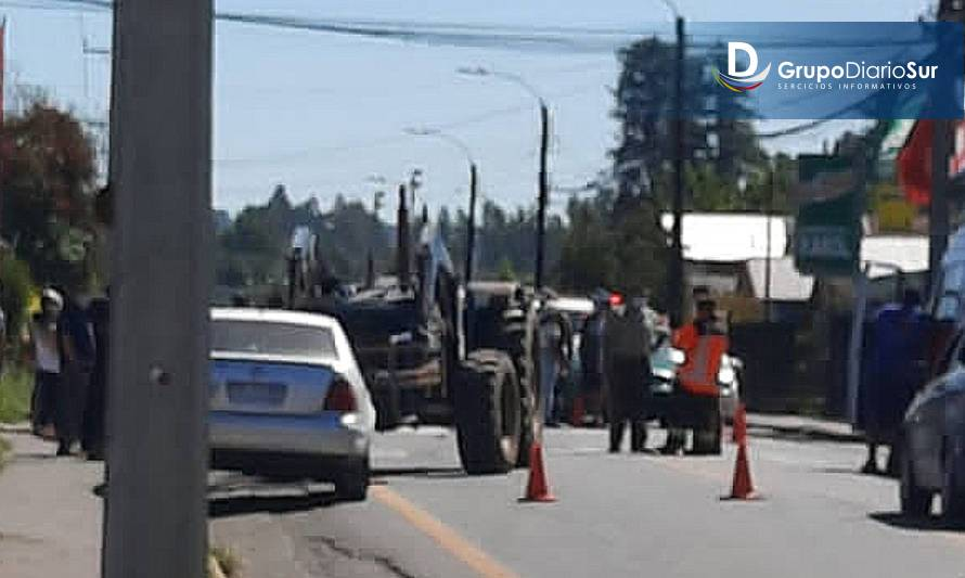 Adulto mayor murió atropellado por tractor en Lago Ranco